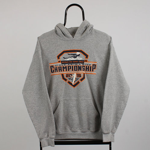 Retro Grey Swim and Dive Championship Hoodie
