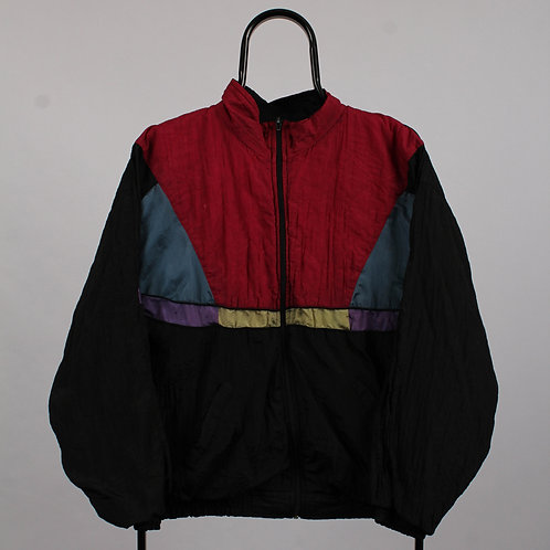 Vintage Harbour Black and Red Windbreaker Jacket