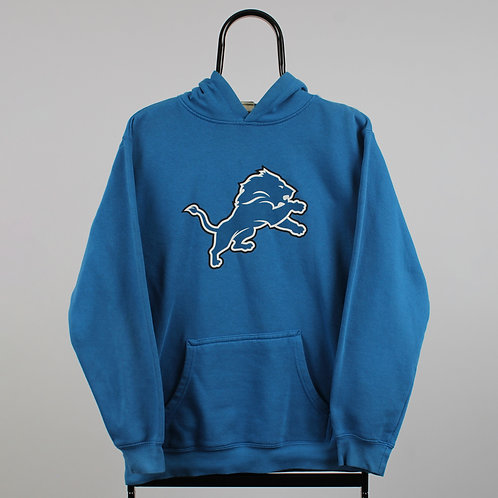 Vintage NFL Blue Detroit Lions Hoodie