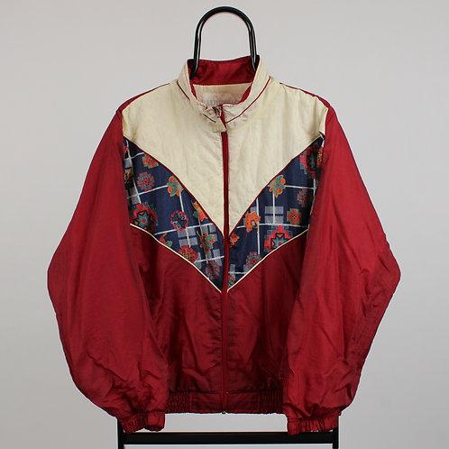Wilson Maroon Patterned Windbreaker Jacket