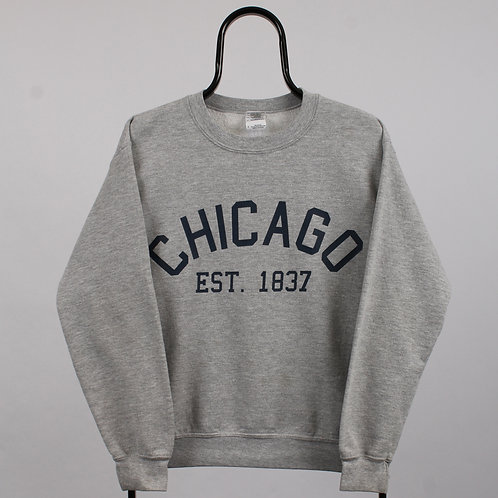 Vintage Grey Chicago Sweatshirt