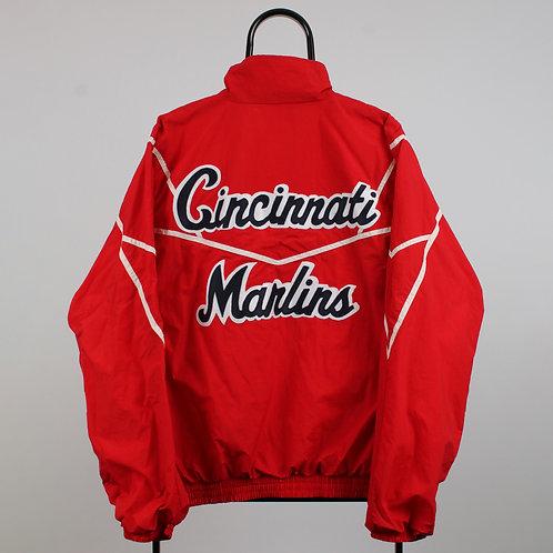 Vintage Red Cincinnati Marlins Tracksuit Jacket