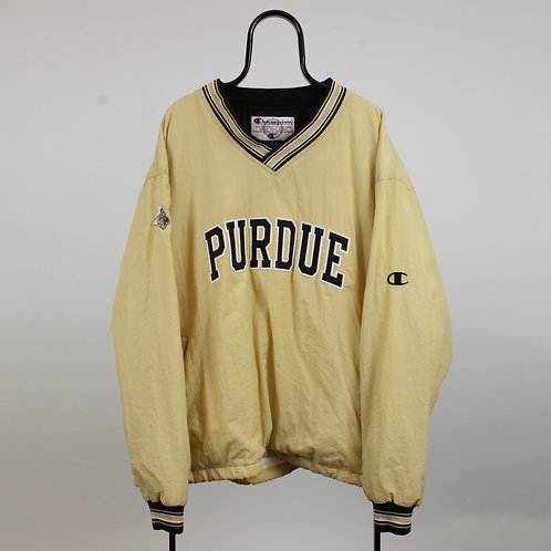 Champion Vintage Purdue Spell Out Cream Tracksuit Top