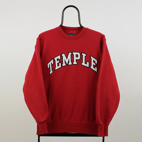 Vintage Red Temple Spell Out Sweatshirt