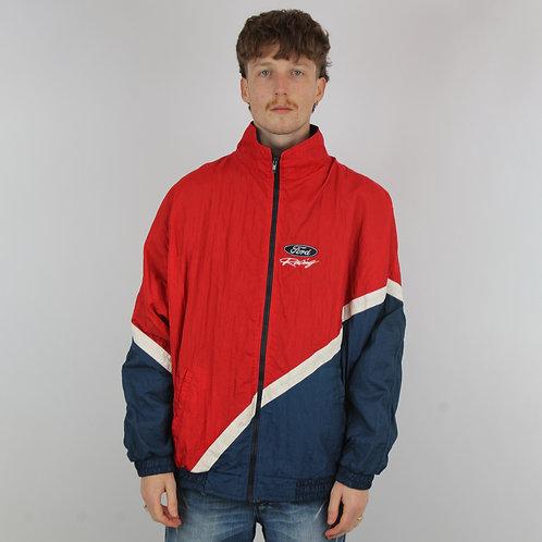 Vintage Ford Racing Red Windbreaker Jacket