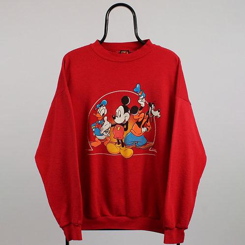 Disney Vintage Red Character Sweatshirt
