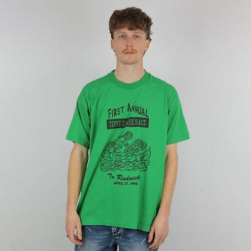 Vintage 90s Green Tipsy Canoe TShirt