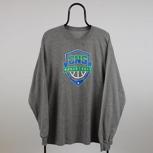 Vintage Grey CNS Basketball Long Sleeved TShirt
