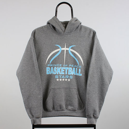 Vintage Grey Basketball Stars Hoodie