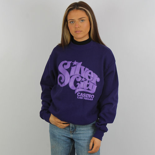Vintage Purple Silver City Sweatshirt