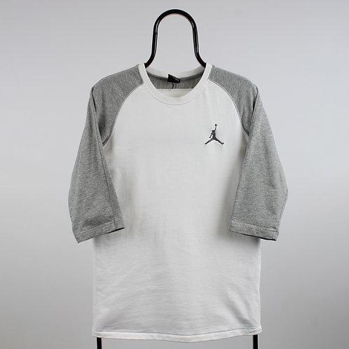 Jordan Vintage White 3/4 Sleeve TShirt