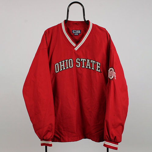 Vintage Ohio State Spell Out Red Tracksuit Top