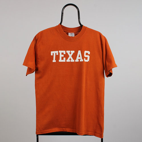 Vintage Orange NCAA Texas Longhorns Spell Out TShirt