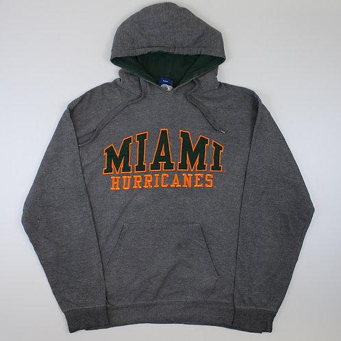 Vintage Miami Hurricanes Grey Hoodie