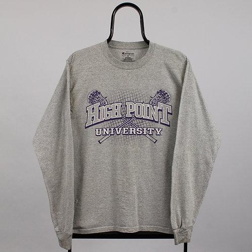 Champion Vintage Grey High Point Long Sleeved TShirt