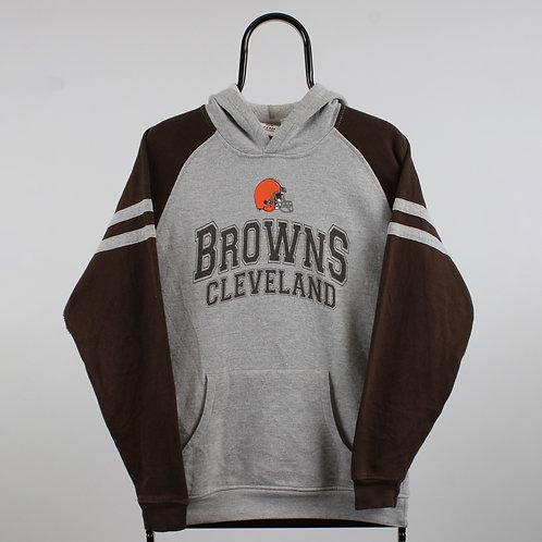 NFL Vintage Grey Cleveland Browns Hoodie