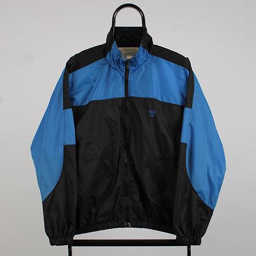 Vintage Blue and Black Windbreaker Jacket