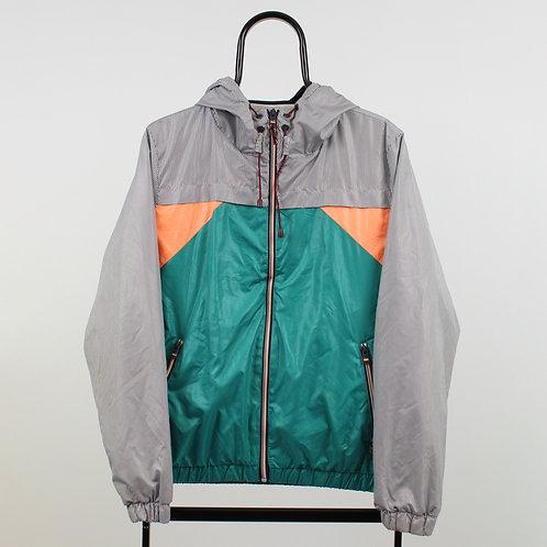 Vintage Green Stripe Windbreaker Jacket