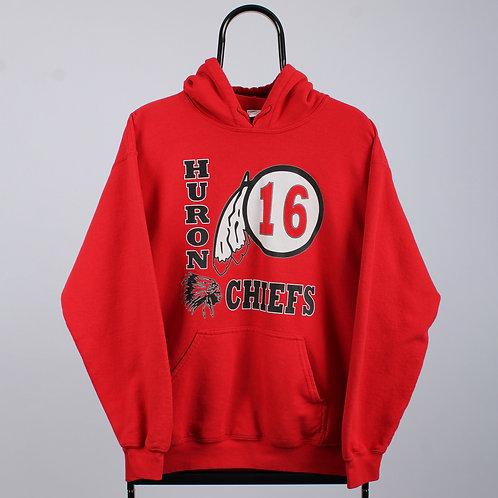 Vintage Red Huron Chiefs Hoodie