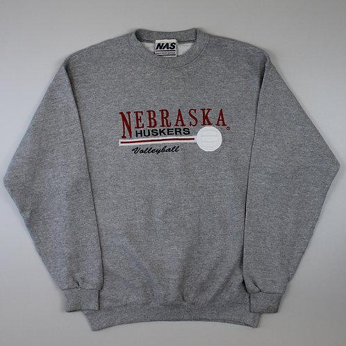 Vintage Grey 'Nebraska Huskers' Sweatshirt