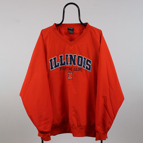 Vintage Orange Illinois Fighting Illini NCAA Tracksuit Top