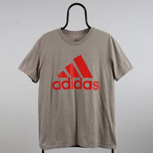 Adidas Vintage Beige Logo Tshirt