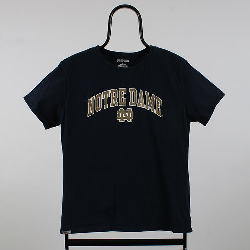 Vintage Navy Notre Dame Spell Out TShirt