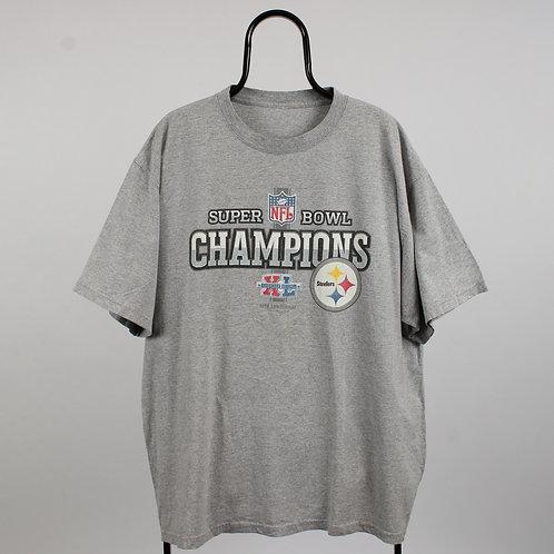 NFL Vintage Grey Super Bowl Champions TShirt