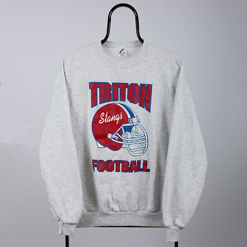 Vintage Grey Triton Football Sweatshirt