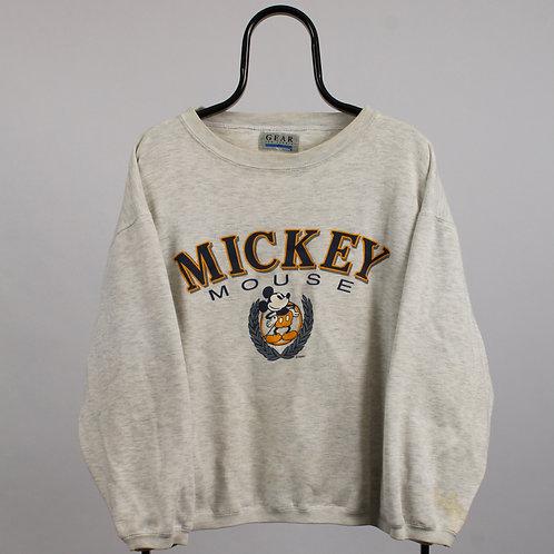 Disney Vintage Mickey Mouse Grey Sweatshirt