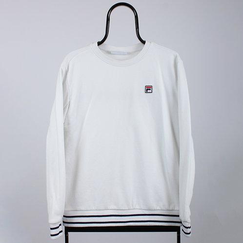Fila Vintage White Embroidered Sweatshirt