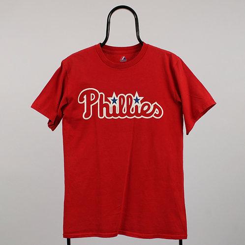 Majestic Vintage MLB Philadelphia Phillies Red TShirt
