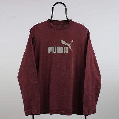 Puma Vintage Maroon Long Sleeved TShirt