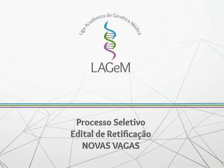 Processo Seletivo 001.2018 | Edital de Retificação NOVAS VAGAS!