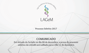 COMUNICADO - PROCESSO SELETIVO 2017