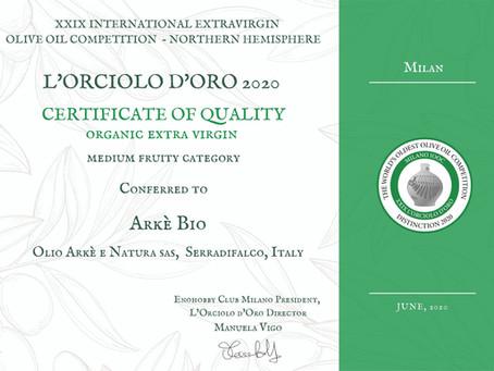 Neue tolle Auszeichnung für unsere Ölmühle Arkè