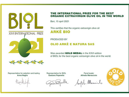 BIOL und Slow Food Italy: Arkè und Arkè BIO mit hohen Auszeichnungen geehrt