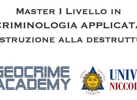 Master di I livello in Criminologia applicata