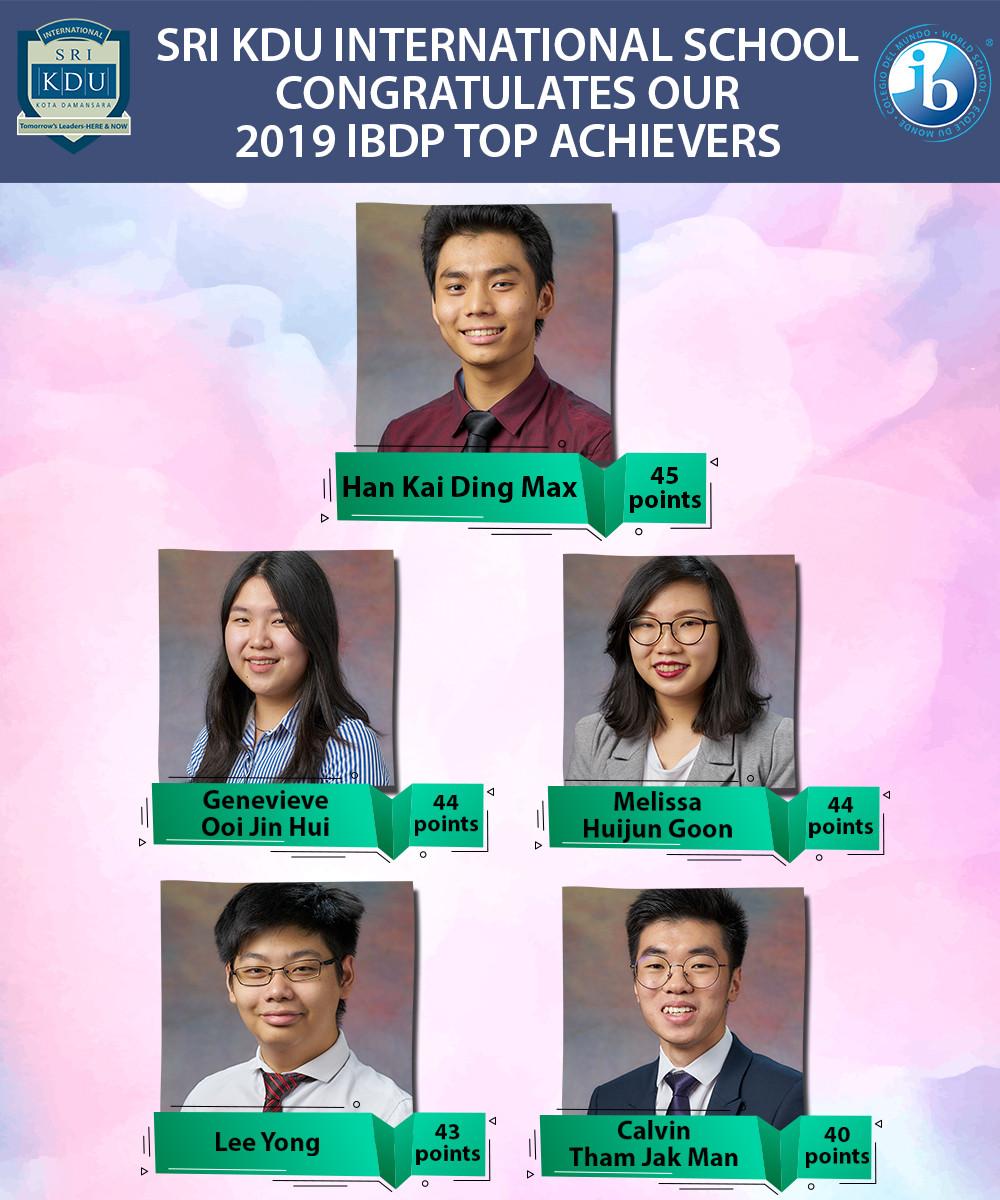 Sri KDU Intternational Top Achievers IB Diploma 2019