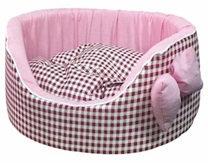 Лежак Премиум розовый №1
