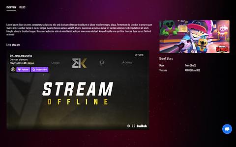 site de tournois esport personnalisé twitch stream tournaments tournois toornament