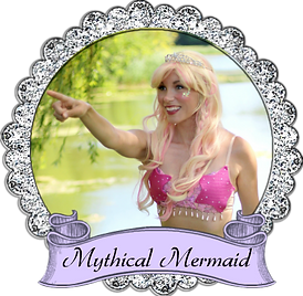 banner mythical mermaid once upon a prin