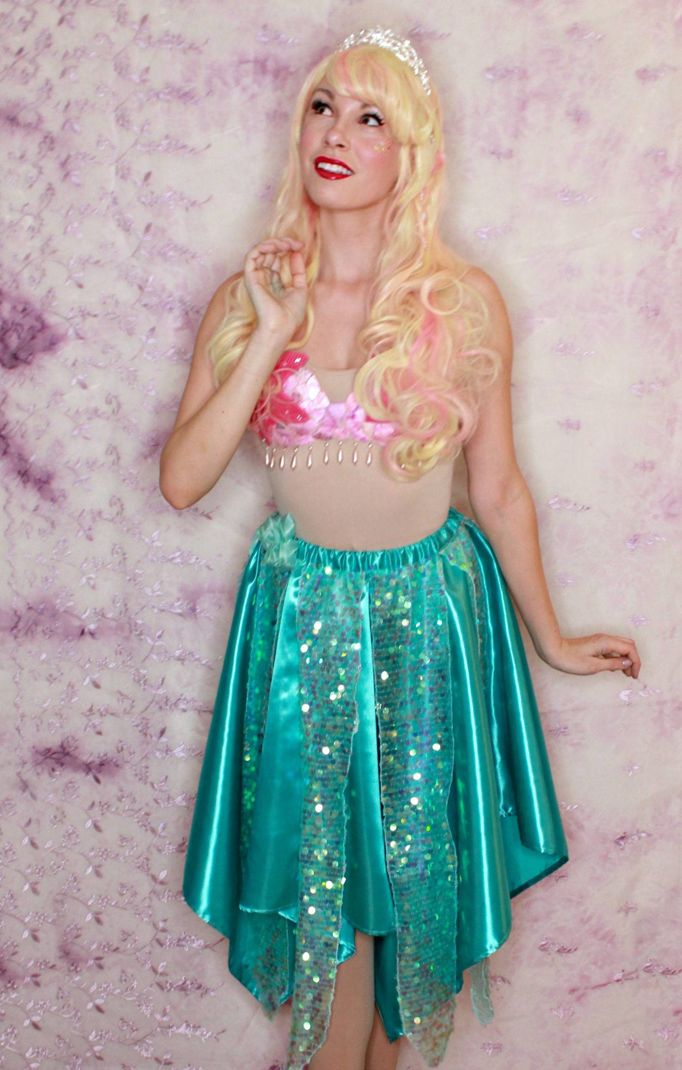 mermaid coral once upon a princess party