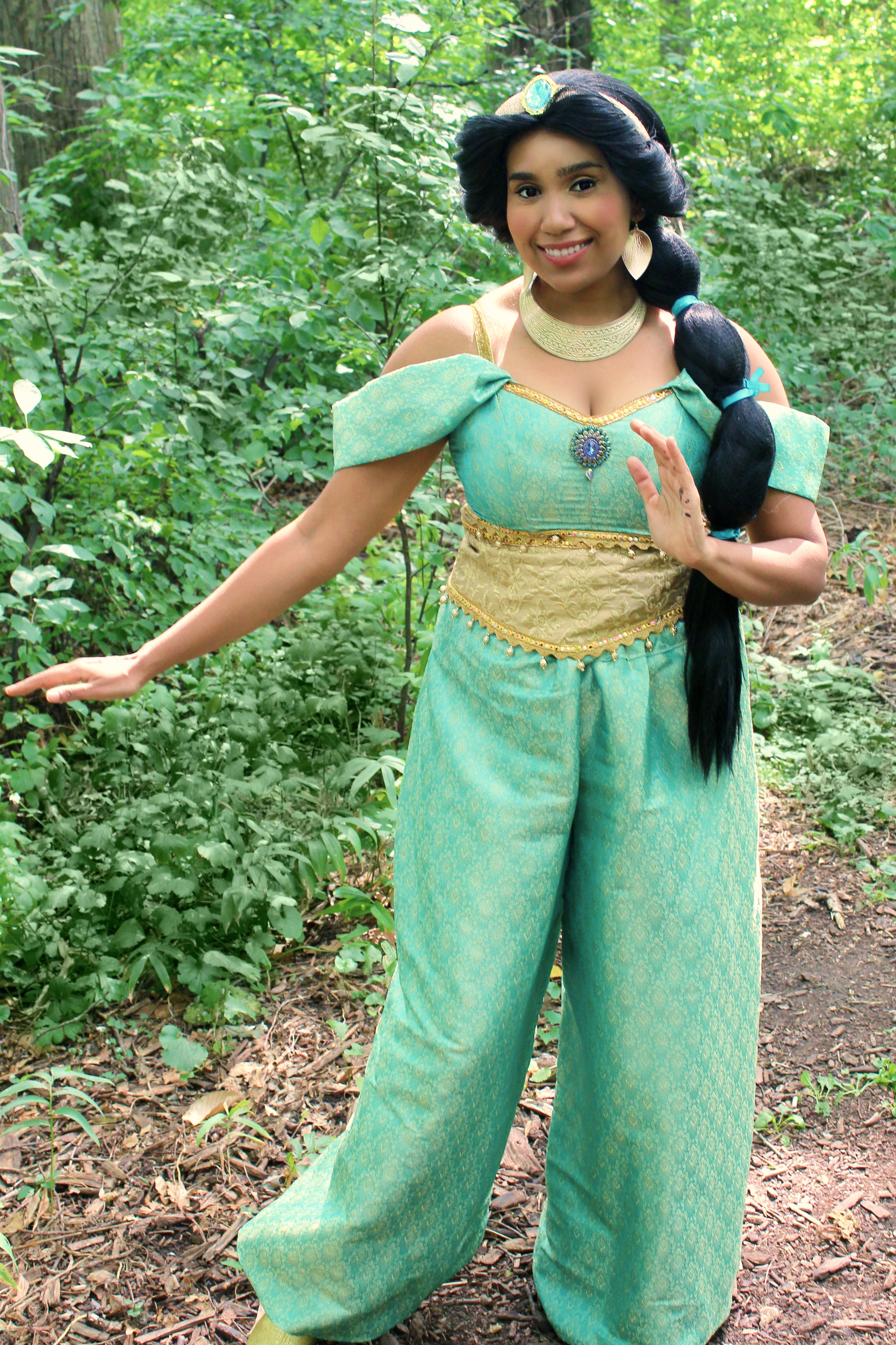 Jasmine outside once upon a princess tor
