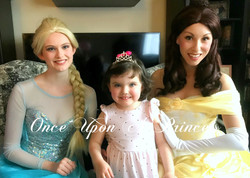 belle and elsa party - once upon a princess party