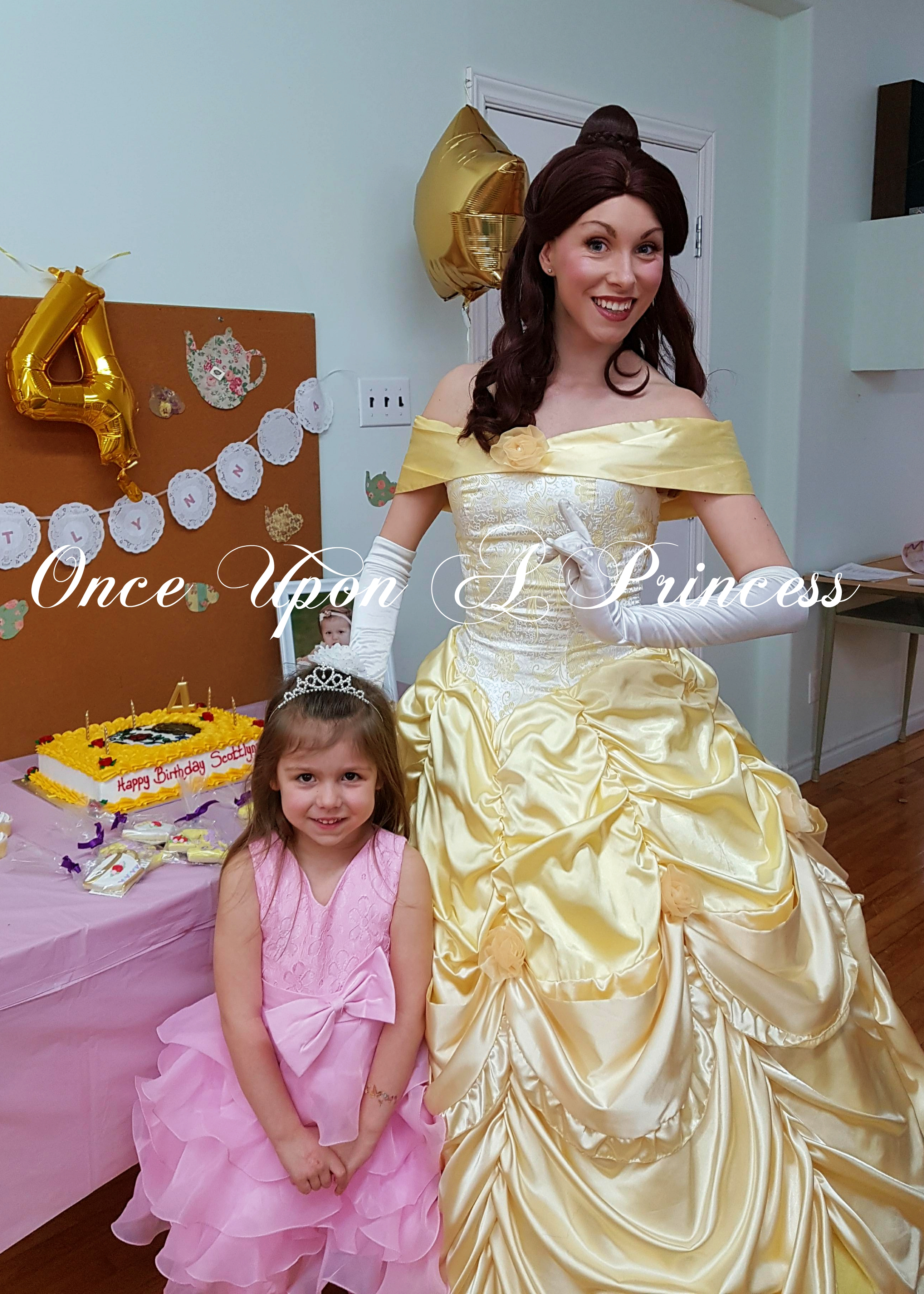 Belle party once upon a princess party