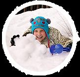 Снежколеп зимняя забава для детей