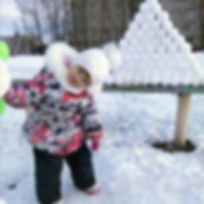 """Наша """"ёлка"""" из снежков, снежколеп может и не такое"""