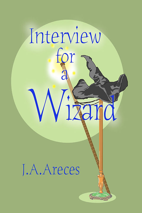 Interview for a Wizard book cover. Beifar Magho wizard hat and staff.