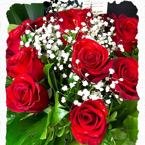 Dozen Hand Tied Rose Bouquet